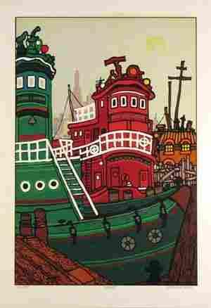 "Edward Sokol, ""Tugboats"""