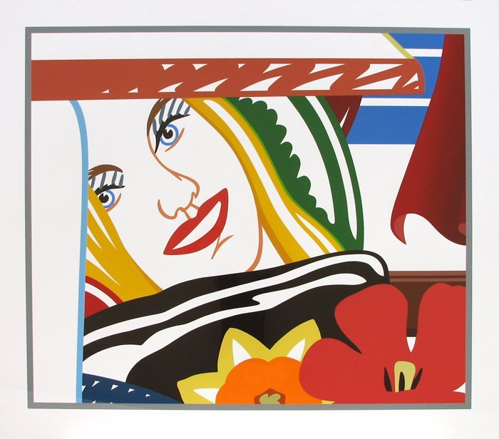 tom wesselmann bedroom face with orange