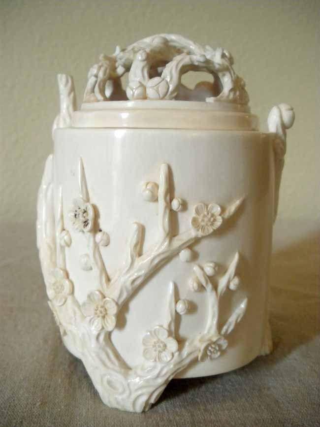 Chinese Carved Ivory Incesnse Burner Censor Ming T