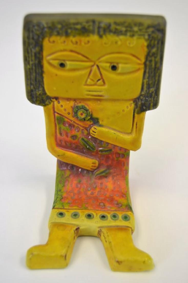 Fantoni Ceramic Shelf Sitter - Signed