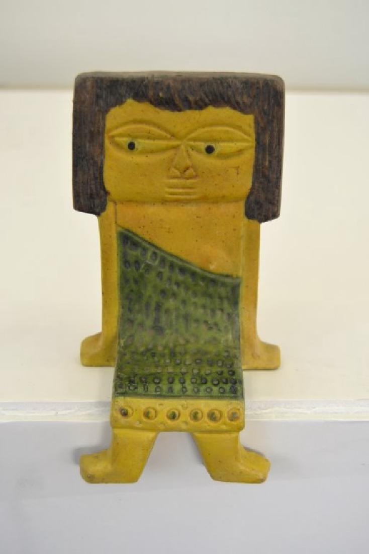 Fantoni Ceramic Shelf Sitter Signed