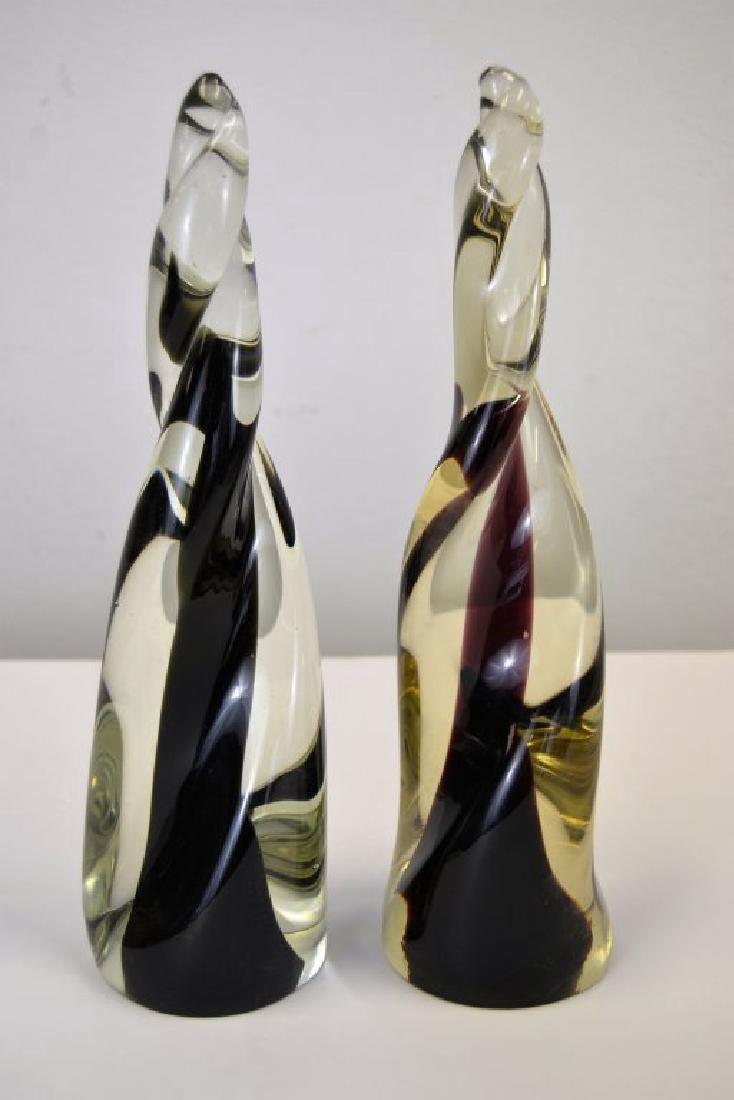 Venini Glass Spire Sculptures