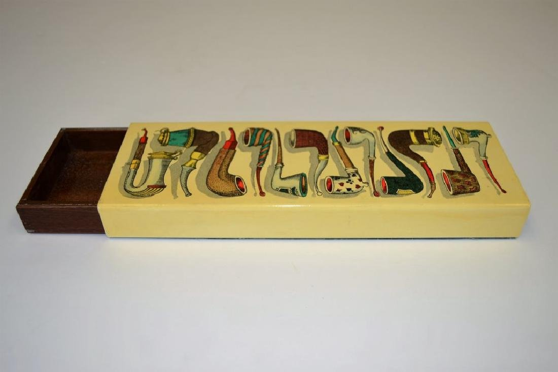 Fornasetti Box with Pipe Imagery - 5