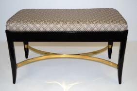 Dunbar Bench with Brass Stretcher