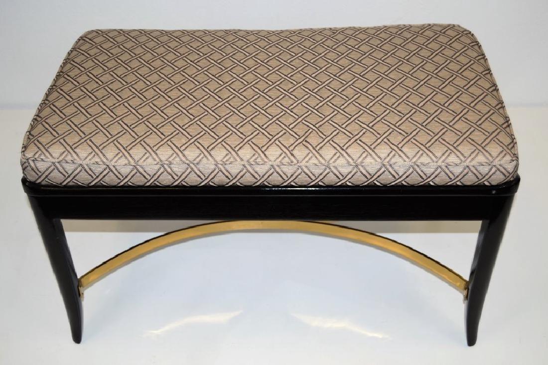 Dunbar Bench with Brass Stretcher - 2
