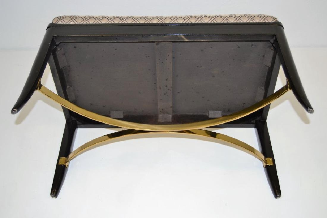 Dunbar Bench with Brass Stretcher - 3