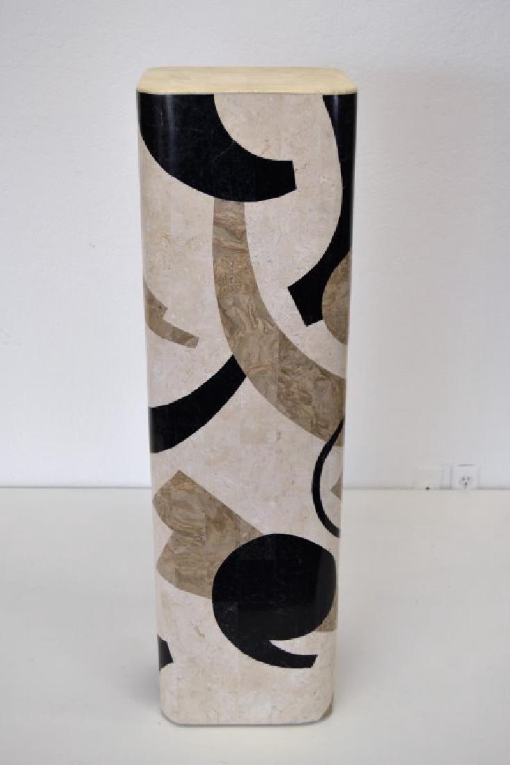 Karl Springer Style Stone Pedestal