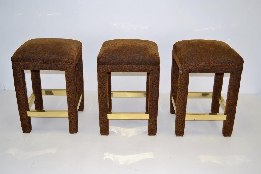 Karl Springer Style Bar Stool Set