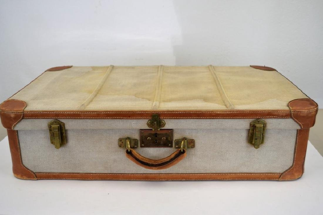 Hermes Suitcase - Canvas and Leather