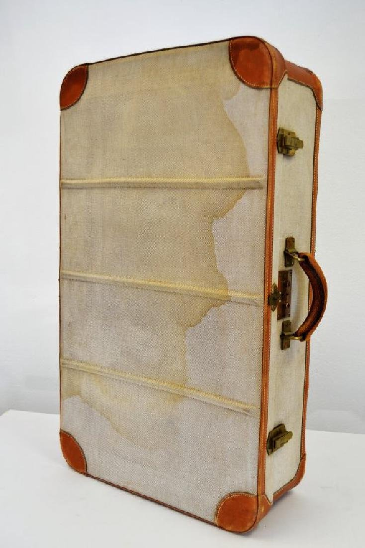 Hermes Suitcase - Canvas and Leather - 2