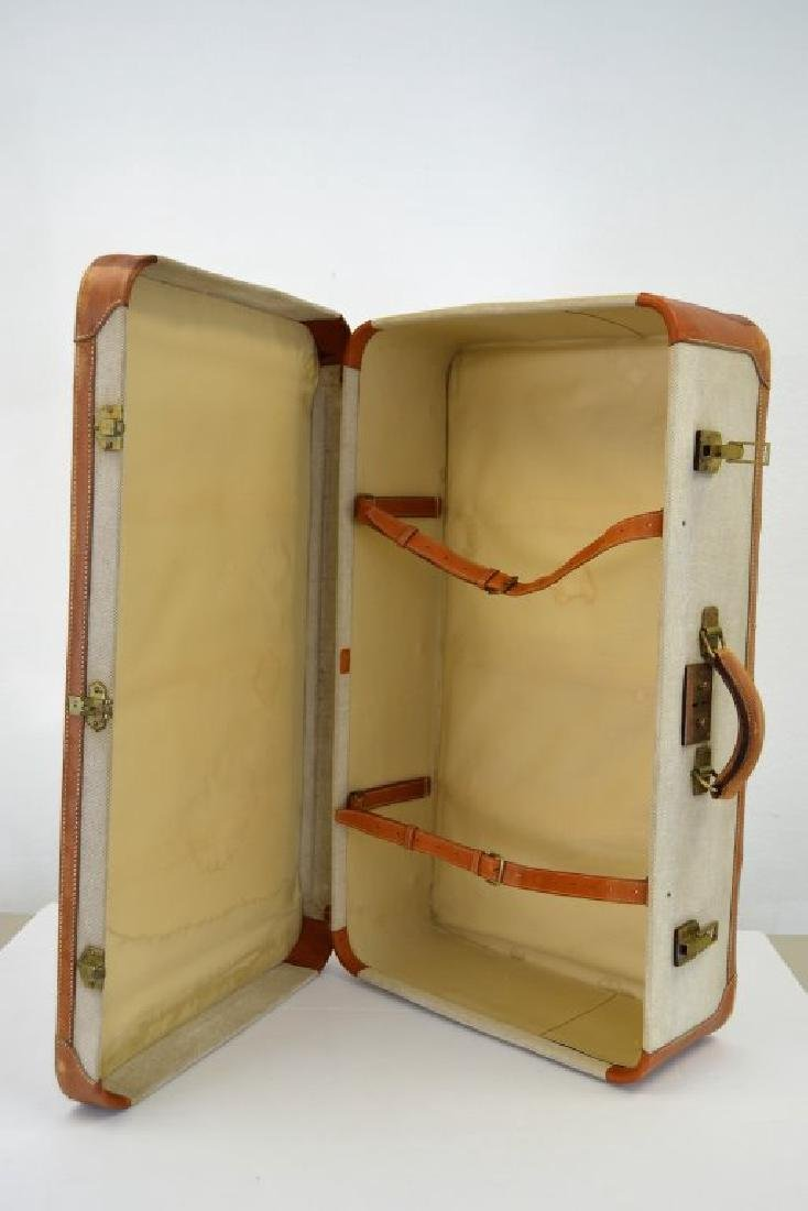 Hermes Suitcase - Canvas and Leather - 3