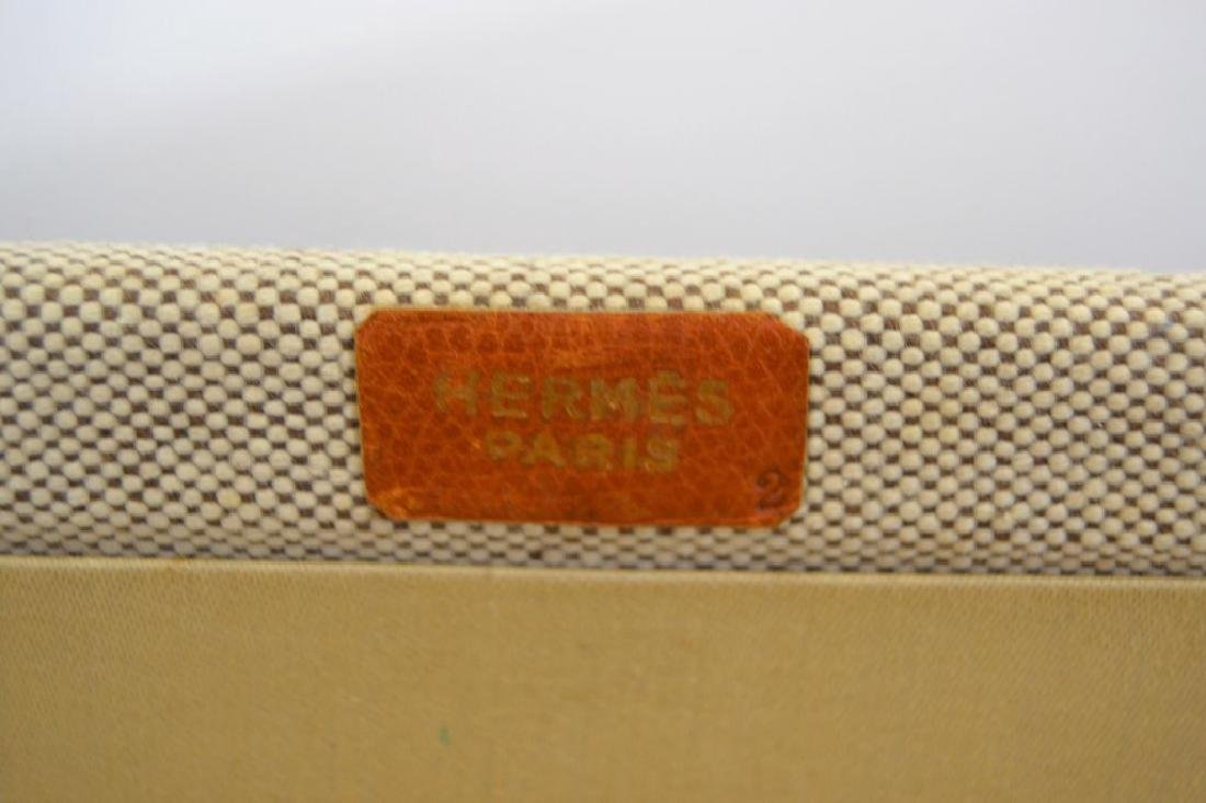 Hermes Suitcase - Canvas and Leather - 4