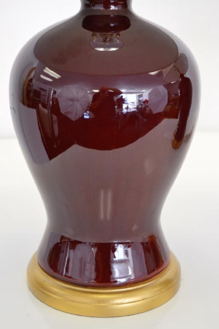 Ralph Lauren Ox Blood Ginger Jar Lamps - 10