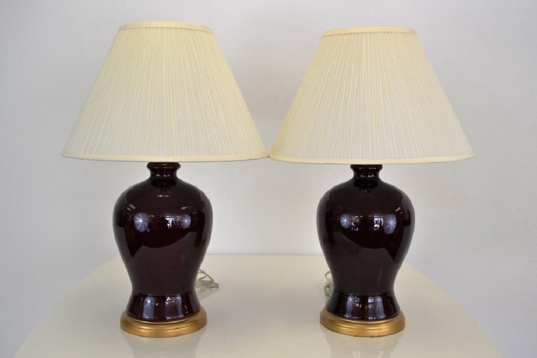 Ralph Lauren Ox Blood Ginger Jar Lamps - 2
