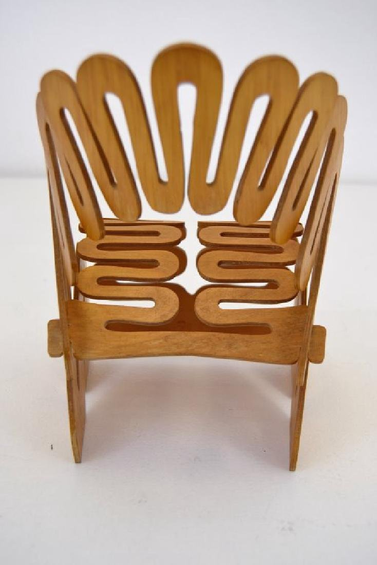 Gregg Fleishman Puzzle Chair Maquette Signed - 3