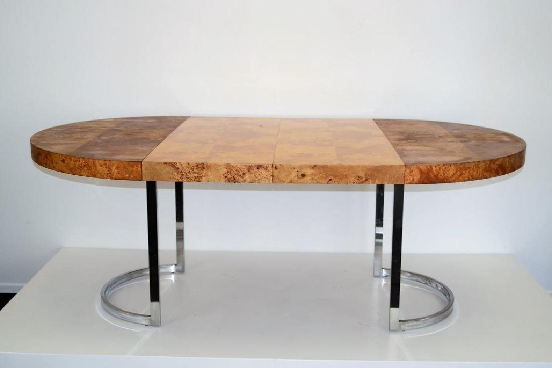 Milo Baughman Style Table w/2 Leaves