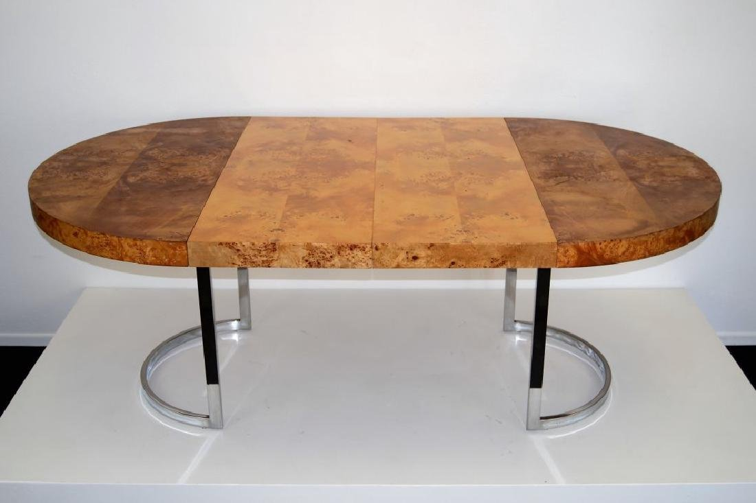 Milo Baughman Style Table w/2 Leaves - 3