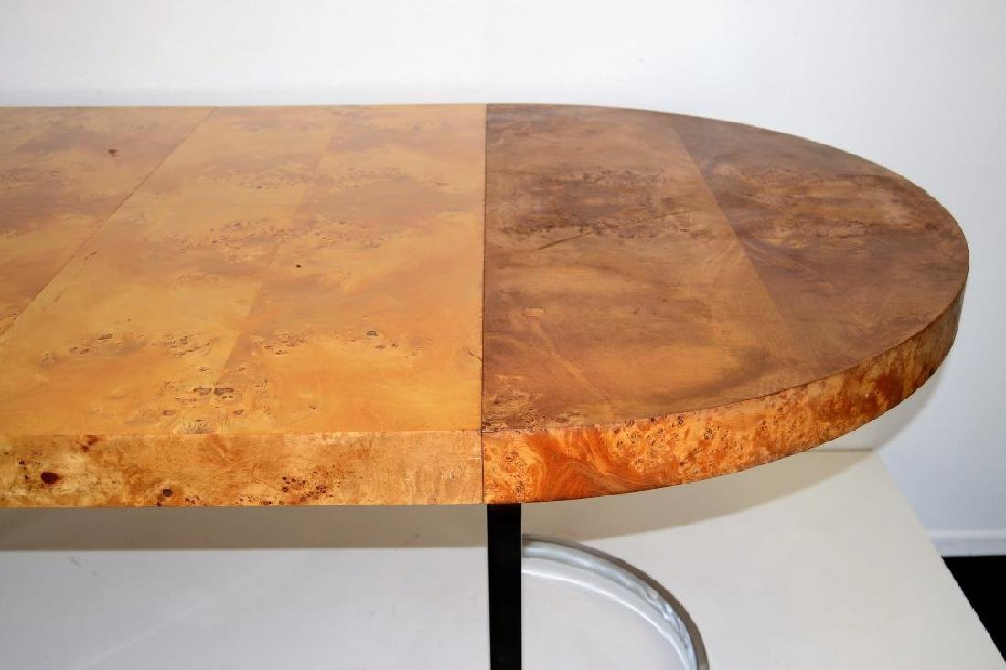 Milo Baughman Style Table w/2 Leaves - 4
