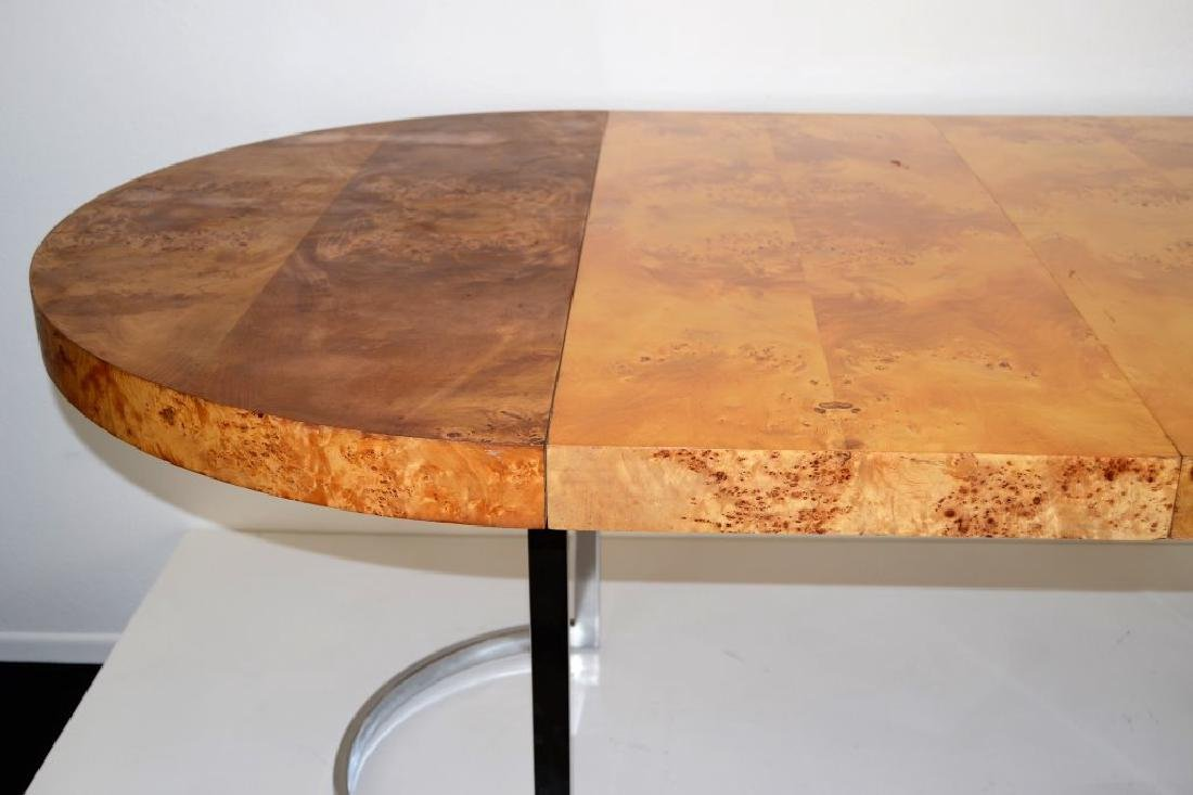 Milo Baughman Style Table w/2 Leaves - 5