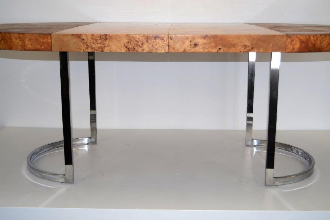 Milo Baughman Style Table w/2 Leaves - 6