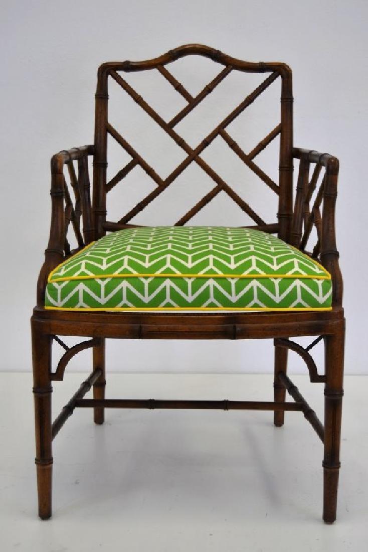 Faux Rattan Arm Chair