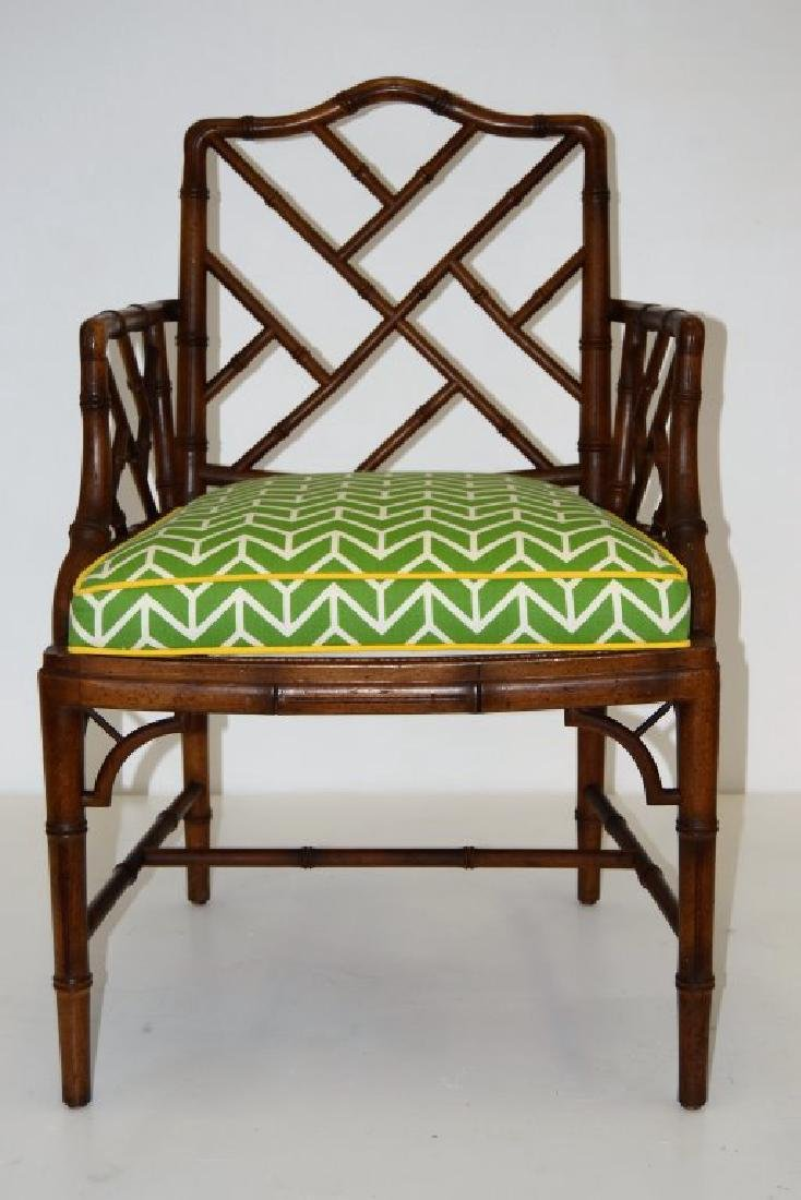 Faux Rattan Arm Chair - 2