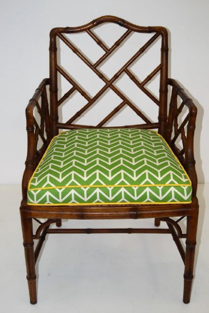 Faux Rattan Arm Chair - 3