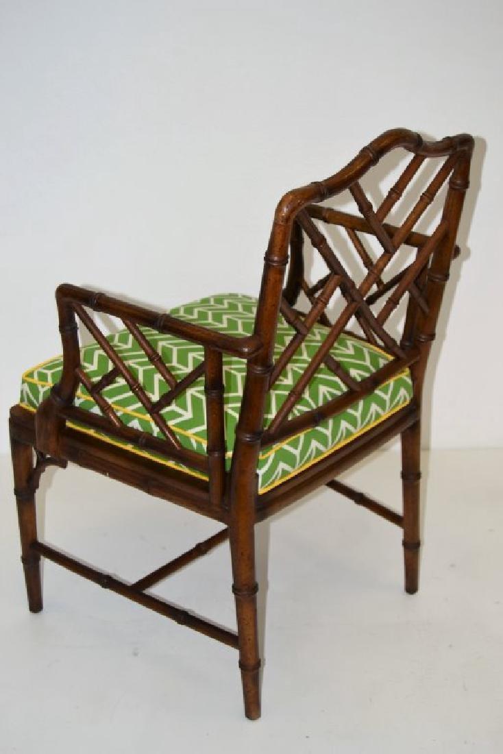 Faux Rattan Arm Chair - 4
