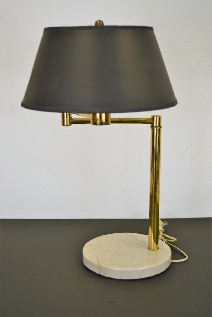 Walter Von Nessen Brass Swing Arm Table Lamp