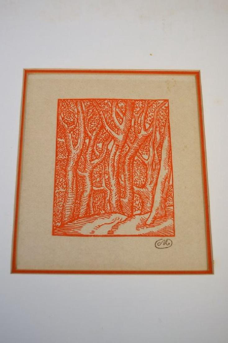 Aristide Maillol Wood Cut with Koa