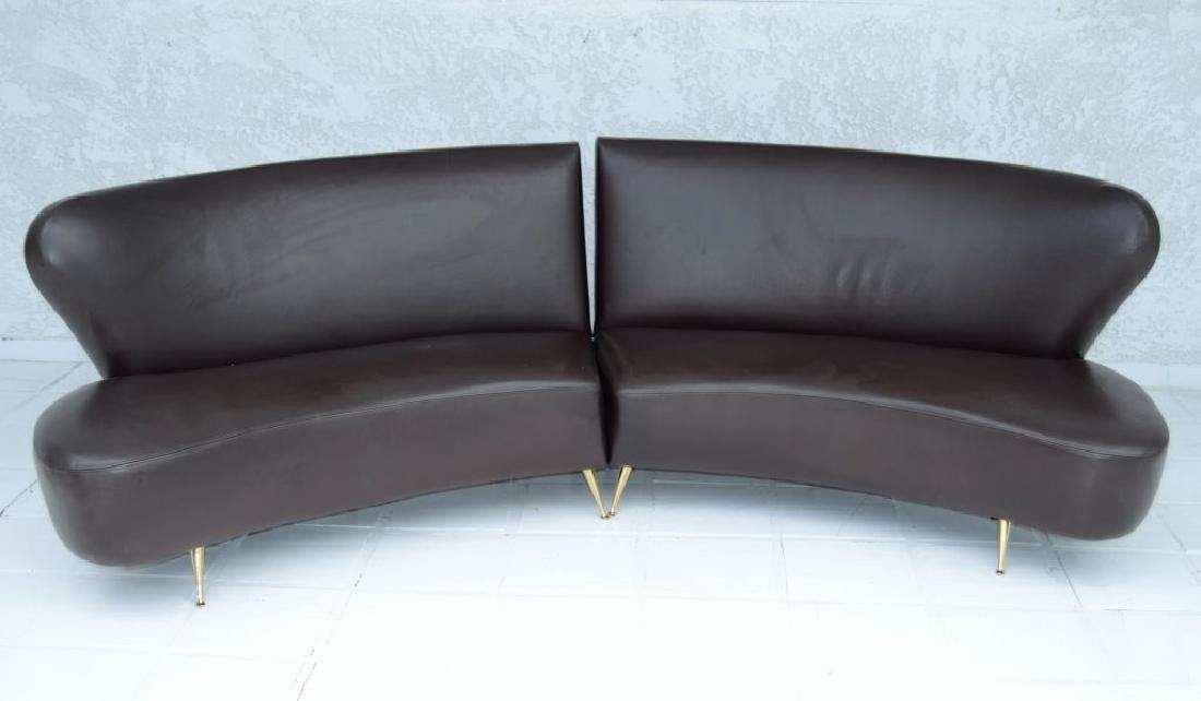 Carlo de Carli Brown Leather Sofa
