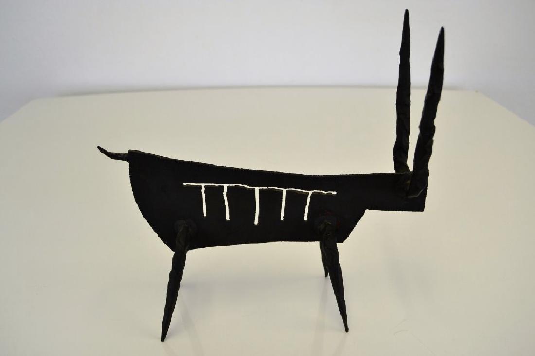 Modernist Iron Bull Sculpture - 4