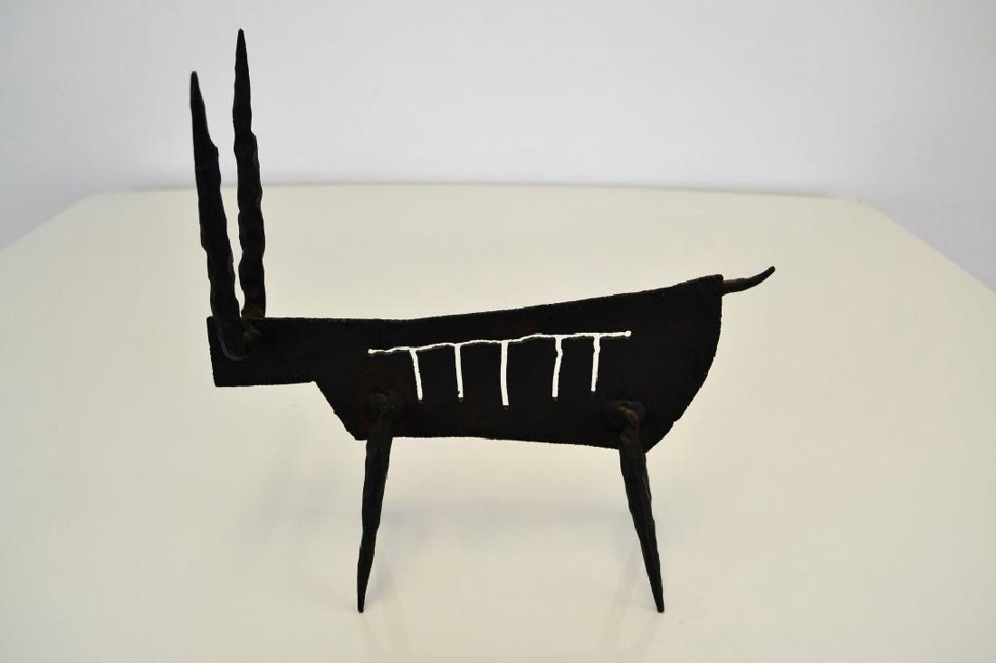 Modernist Iron Bull Sculpture - 7