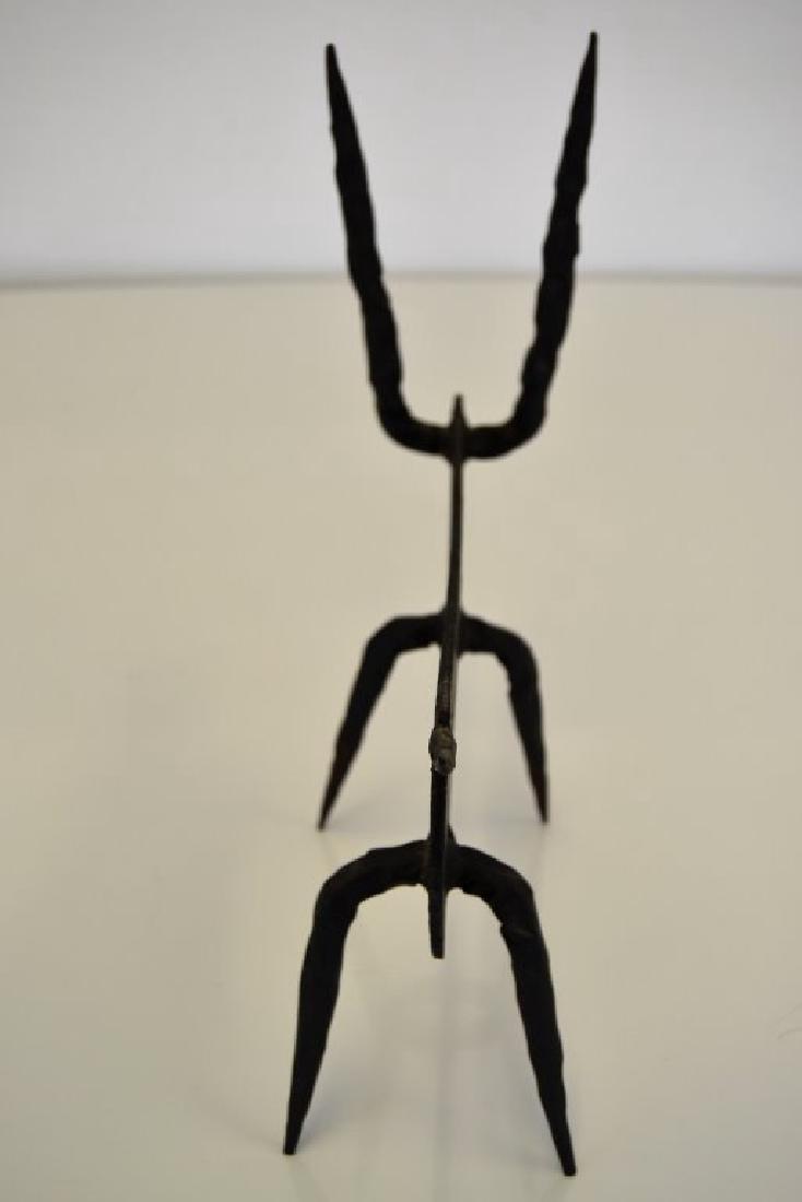Modernist Iron Bull Sculpture - 8