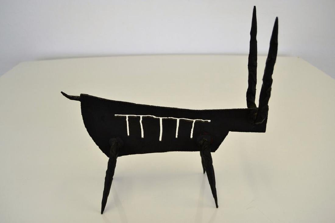 Modernist Iron Bull Sculpture - 9