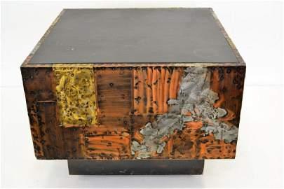 Paul Evans Copper/Bronze/Pewter Slate Top Table