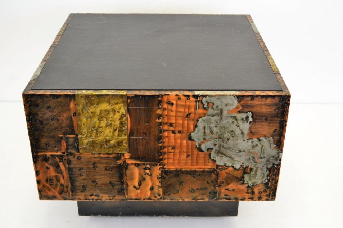 Paul Evans Copper/Bronze/Pewter Slate Top Table - 3