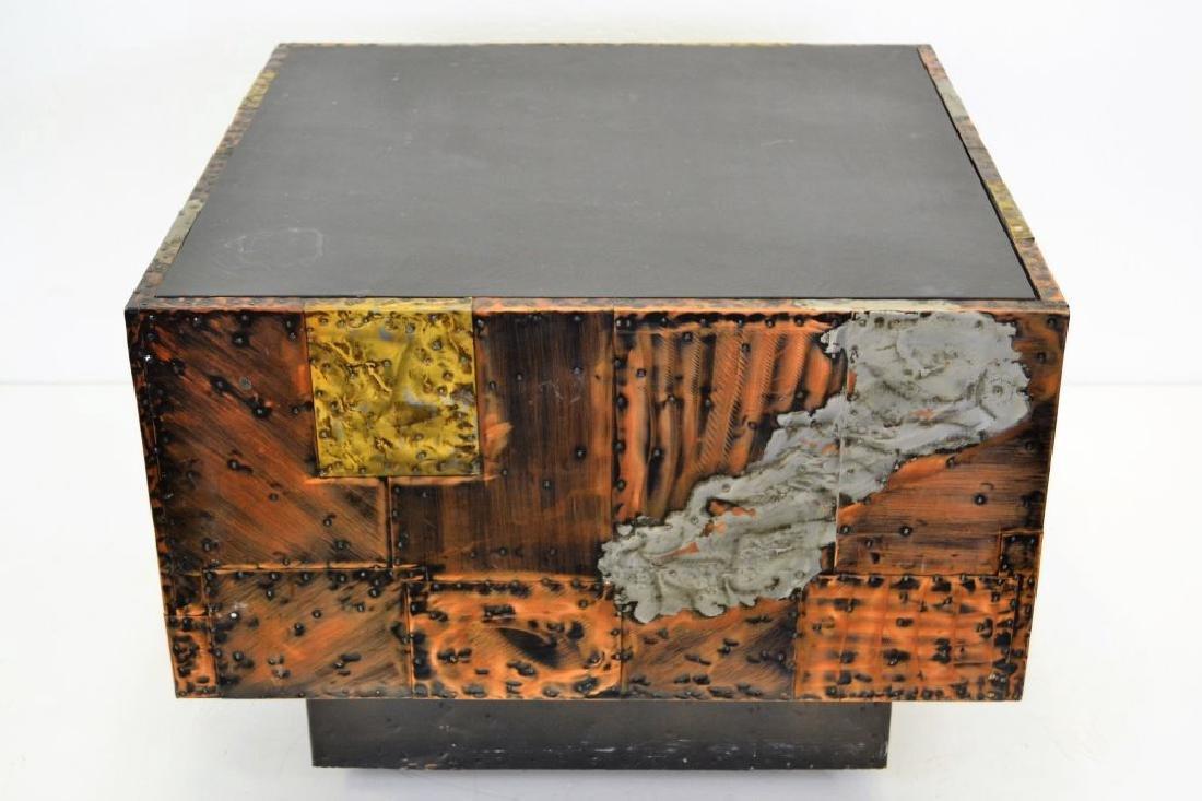 Paul Evans Copper/Bronze/Pewter Slate Top Table - 4