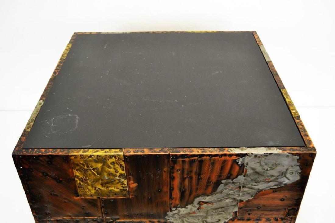 Paul Evans Copper/Bronze/Pewter Slate Top Table - 5