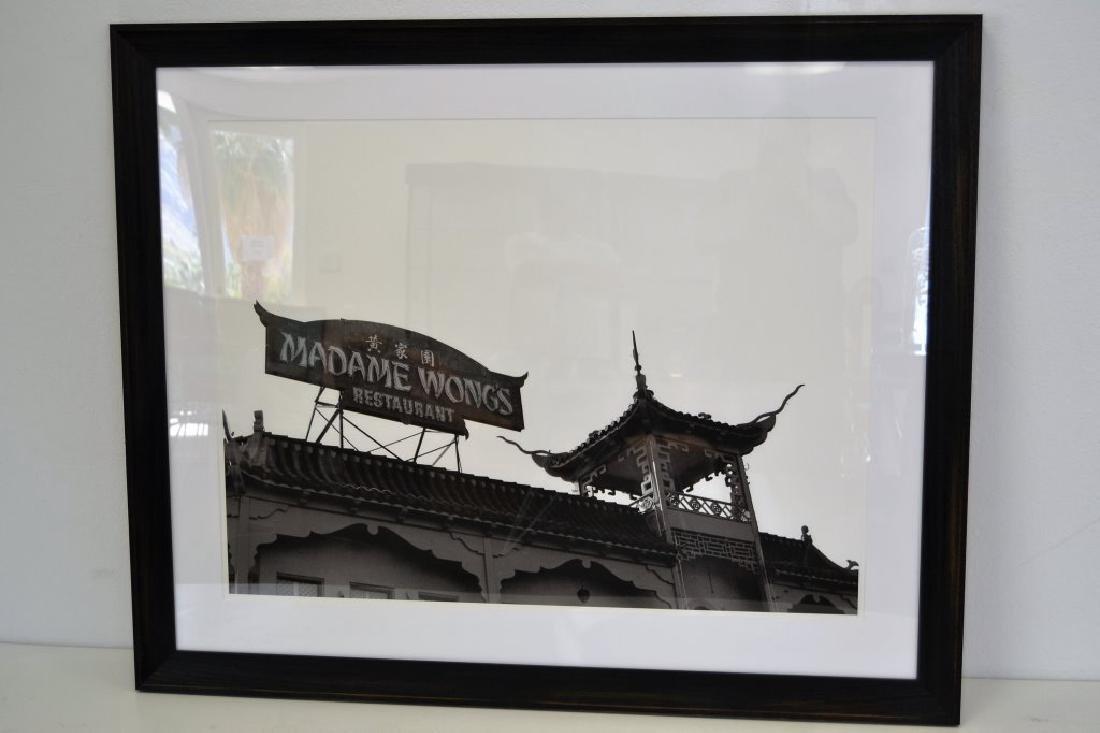 Large Framed Black & White Picture - 2