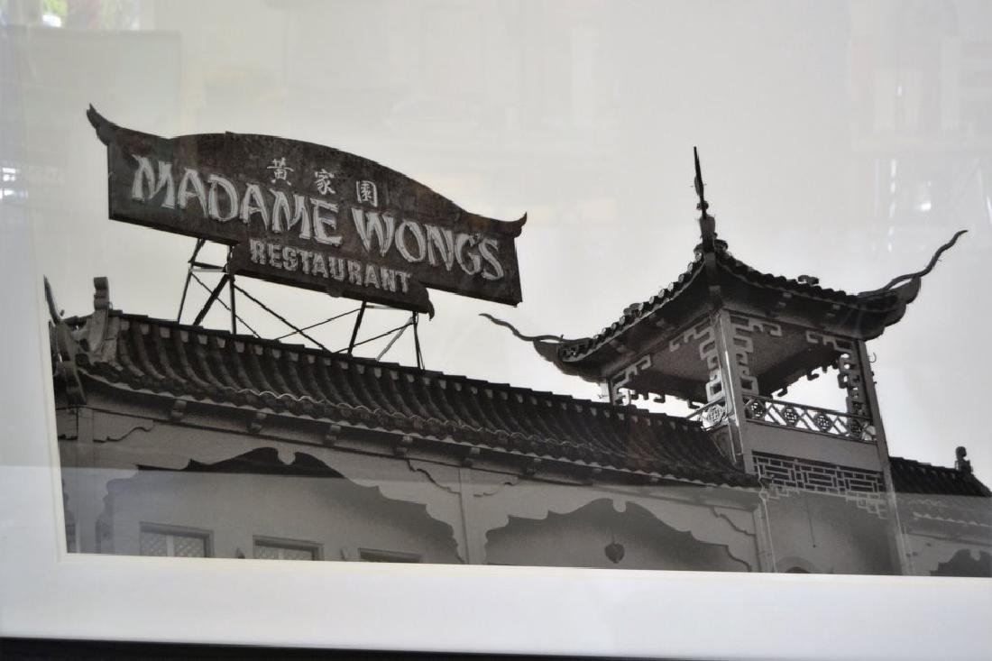 Large Framed Black & White Picture - 3