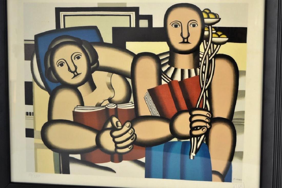 """Fernand Leger """"La Lecture"""" Pencil Signed - 2"""