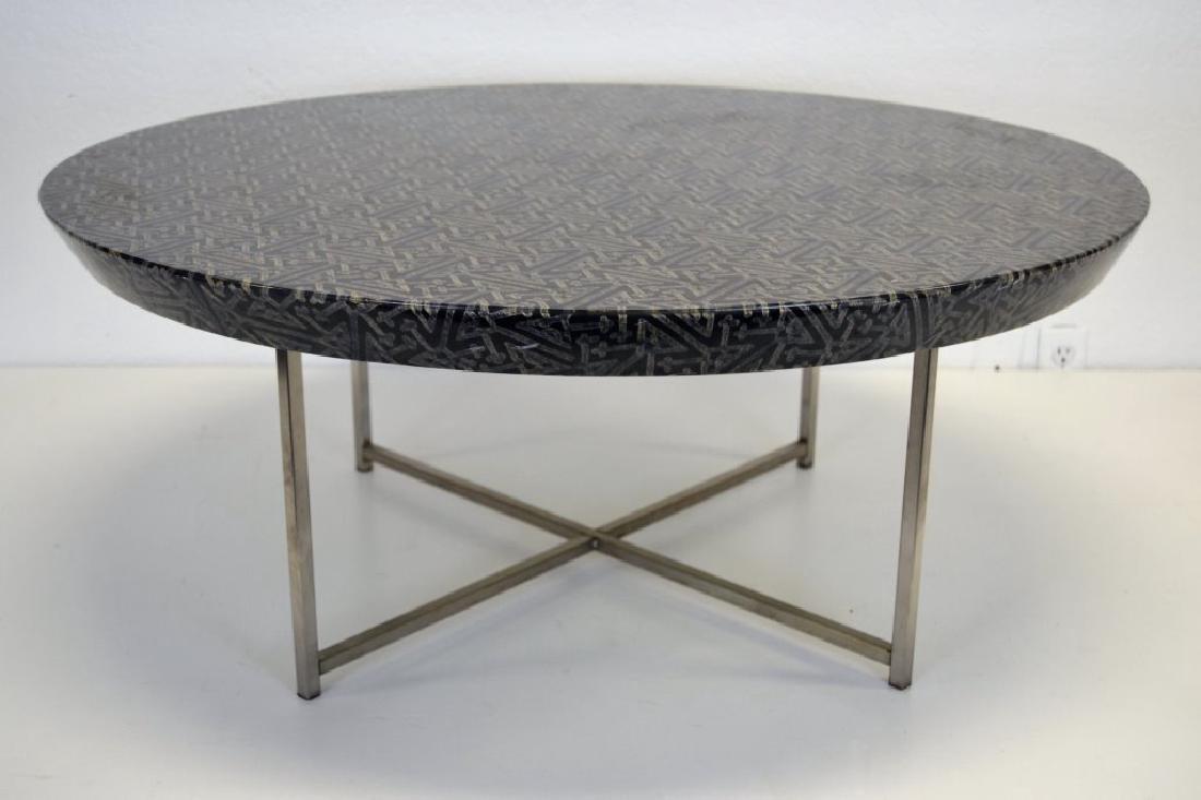 Karl Springer Batik Top Cocktail table