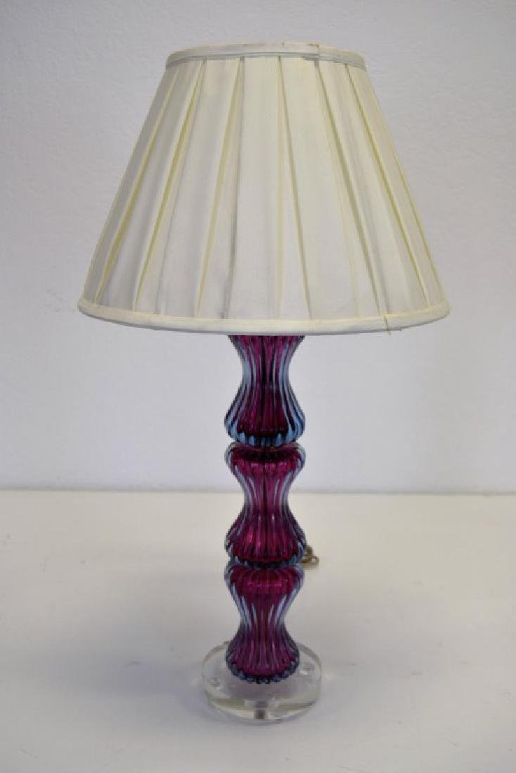 Seguso Purple Table Lamp