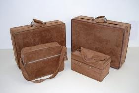 Halston  Set of Ultra Suede Luggage