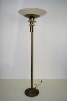 Jean Perzel Torchiere Floor Lamp