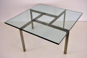 Paul Tuttle Brushed Chrome Cocktail Table