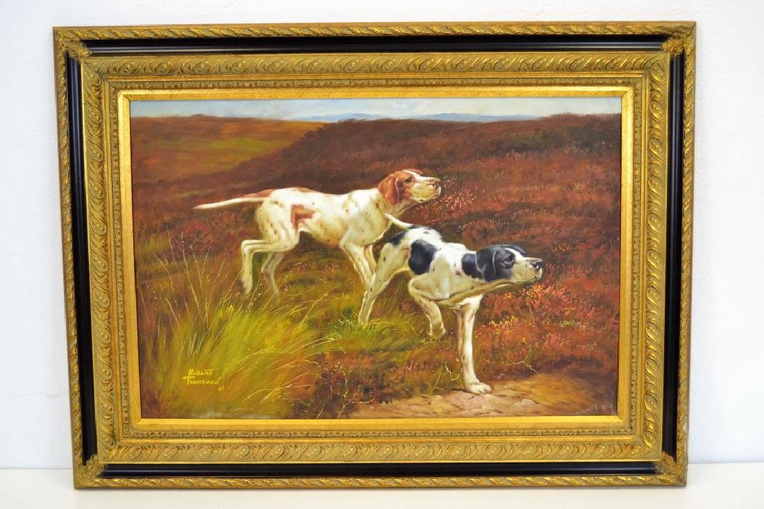 Robert Townsend Oil on Canvas of Hunting Dogs - 2