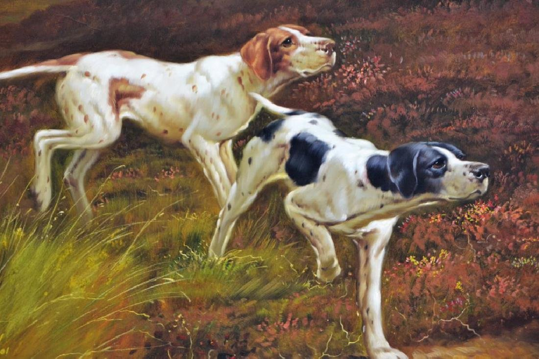 Robert Townsend Oil on Canvas of Hunting Dogs - 3