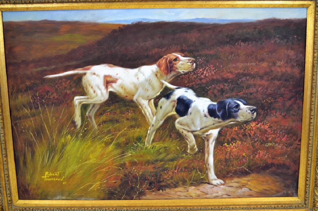 Robert Townsend Oil on Canvas of Hunting Dogs - 5